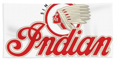 Indian Motorcycle Logo Beach Sheet