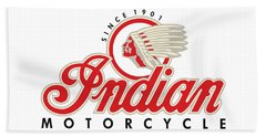 Indian Motorcycle Logo Beach Towel