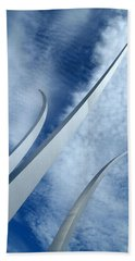 Beach Towel featuring the photograph Into The Clouds by Cora Wandel