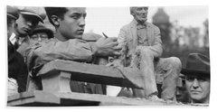 Isamu Noguchi With Sculpture Beach Towel