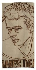 James Dean Beach Towel by Sean Connolly