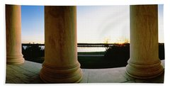 Jefferson Memorial Washington Dc Usa Beach Sheet by Panoramic Images