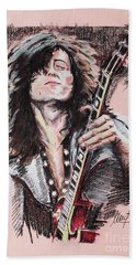 Jimmy Page Beach Towel by Melanie D