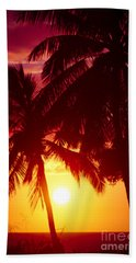 Beach Towel featuring the photograph Kamaole Nights by Sharon Mau
