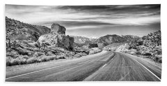 Beach Towel featuring the photograph Kyle Canyon Road by Howard Salmon