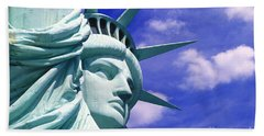 Lady Liberty Beach Towel by Jon Neidert
