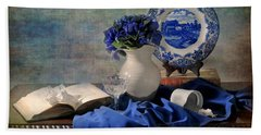 Lady's Got The Blues Beach Towel by Diana Angstadt