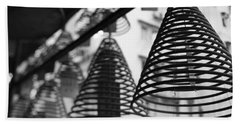 Large Incense Coils Hanging In Pak Sing Beach Towel by Panoramic Images