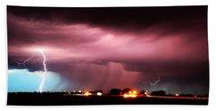 Late Evening Nebraska Thunderstorm Beach Towel