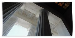 Lincoln Stained Glass And Columns Beach Towel