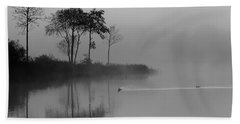 Loch Ard Trees In The Morning Mist Beach Towel