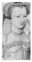 Louise De Lorraine (1553-1601) Beach Towel