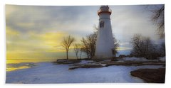 Marblehead Lighthouse Lake Erie Beach Towel