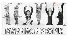 Marriage People Beach Towel