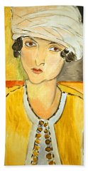 Matisse's Lorette With Turban And Yellow Jacket Beach Sheet
