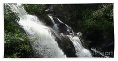Maui Waterfall Beach Sheet by Fred Wilson