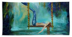 Mermaids Lazy Lagoon Beach Towel