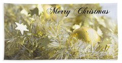 Beach Towel featuring the photograph Merry Christmas by Jocelyn Friis