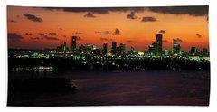 Miami, Florida, Usa Beach Towel