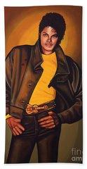 Michael Jackson Beach Towel by Paul Meijering