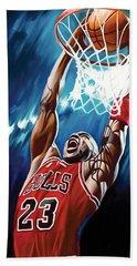 Michael Jordan Artwork Beach Towel