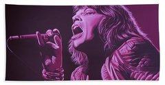 Mick Jagger 2 Beach Towel