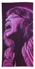 Mick Jagger 2 Beach Towel by Paul Meijering
