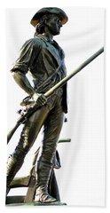 Minute Man Statue Concord Ma Beach Sheet