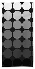 Mod Pop Gradient Circles Black And White Beach Towel