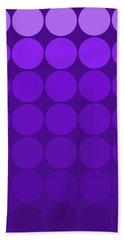 Mod Pop Mid-century Gradient Circles Purple Beach Sheet