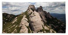 Montserrat Mountain In Spain Beach Sheet