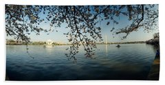 Monument At The Waterfront, Jefferson Beach Towel by Panoramic Images