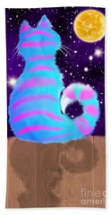 Moon Cat Beach Towel