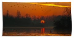 Morning Over River Beach Towel