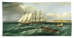 Mouth Of The Delaware Beach Towel