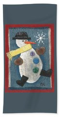 Mr. Snowjangles Beach Towel