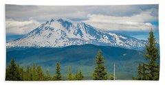Mt. Adams From Indian Heaven Wilderness Beach Towel by Patricia Babbitt