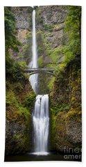 Beach Towel featuring the photograph Multnomah Falls by Brian Jannsen