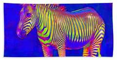 Neon Zebra 2 Beach Towel by Jane Schnetlage