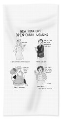 New York City Open Carry Weapons Beach Towel