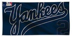 New York Yankees Derek Jeter Beach Towel