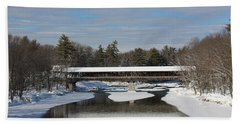 North Conway Covered Bridge  Beach Towel