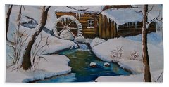 Old Grist Mill  Beach Sheet by Sharon Duguay