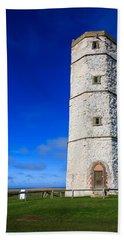 Old Lighthouse Flamborough Beach Towel