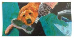 Beach Towel featuring the painting One Team Two Heroes - 1 by Donald J Ryker III