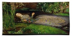Ophelia Beach Towel by John Everett Millais