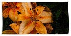 Orange Lilies Beach Sheet