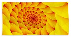 Yellow Pillow Vortex Beach Towel
