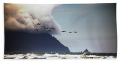 Beach Towel featuring the photograph Oregon Coast  by Aaron Berg