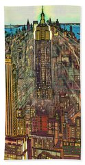 New York Mid Manhattan 1971 Beach Towel